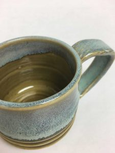 Pottery mug - close up