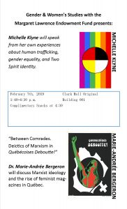 Poster features rainbow-coloured flag with medicine wheel in its centre at the top of the page. At the bottom is an image of a person with their fist raised appearing to burst through the page.