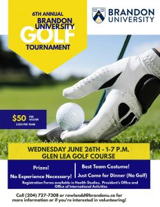 6th Annual BU Golf Tournament poster