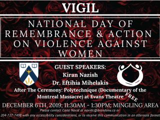 Poster for National Day of Remembrance features event details on background of roses